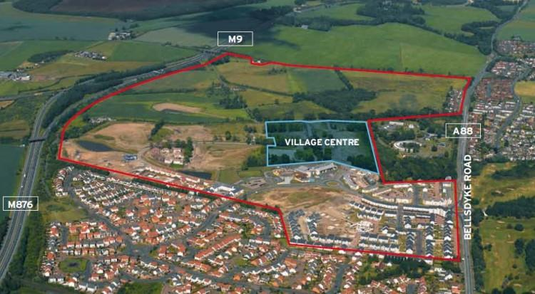 Kinnaird Village Centre Development Site, Bellsdyke Road, Kinnaird Village, Larbert, FK5 4GY